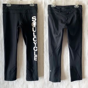 Lululemon Soul Cycle Black Cropped Leggings 4